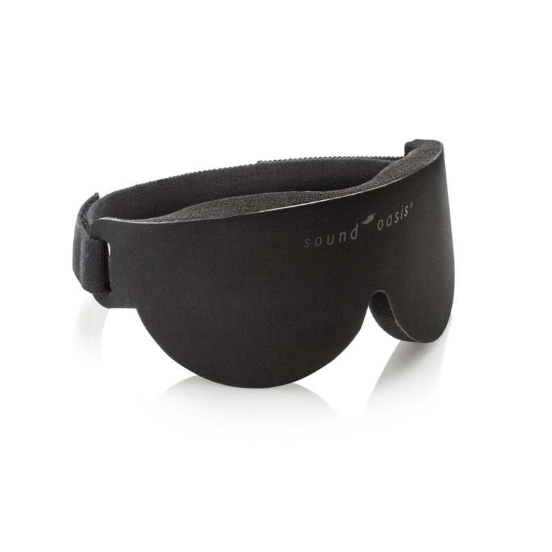 97b927707f8 Sound Oasis creates sleep masks that use sound and light therapy. This  particular mask uses Glo to Sleep technology. You start by holding the mask  six ...