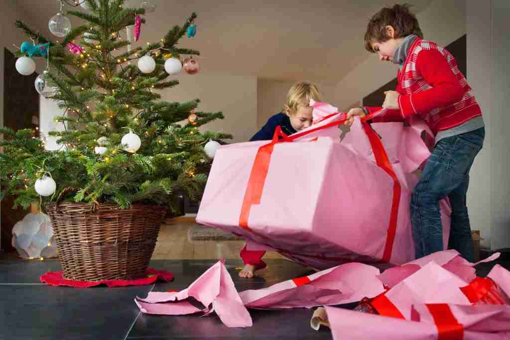 opening holiday gifts