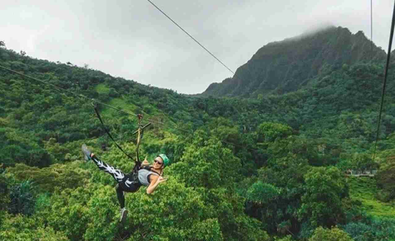 Kualoa Ranch Zipline. (Photo courtsy of Kualoa Ranch)