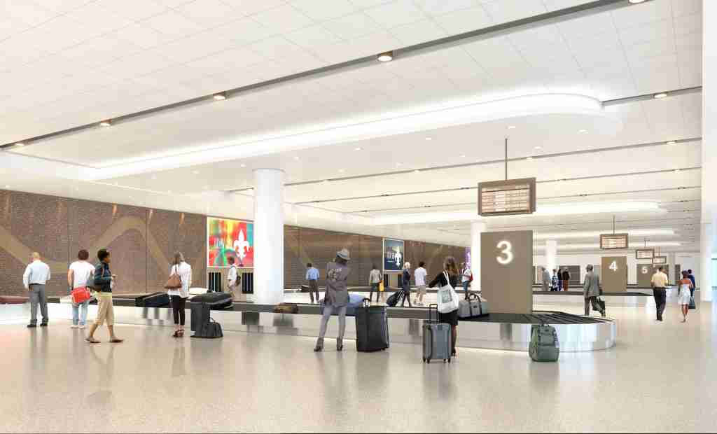 Photo rendition of the new MSY baggage claim - courtesy of New Orleans Department of Aviation