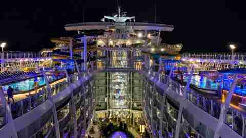 Royal Caribbean Symphony of the Seas - Night Top Deck View