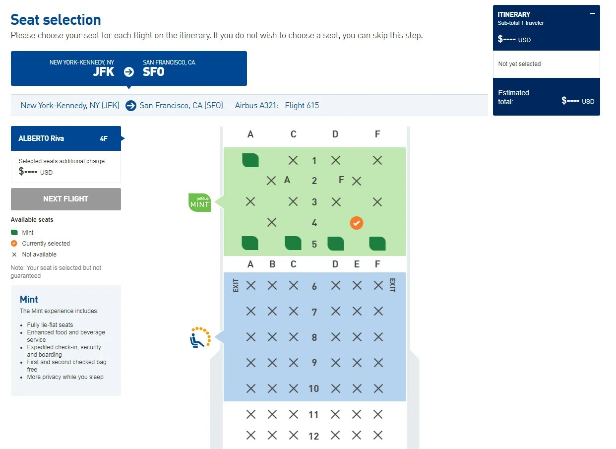 Flight Review: JetBlue Mint From New York to San Francisco