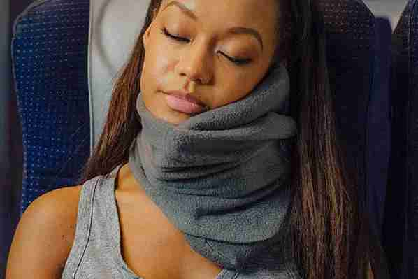 The TRTL travel pillow. Not really a pillow per se, but a game changer. (Image via TRTL).