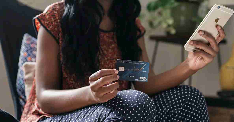 Ink Business Preferred credit card being held