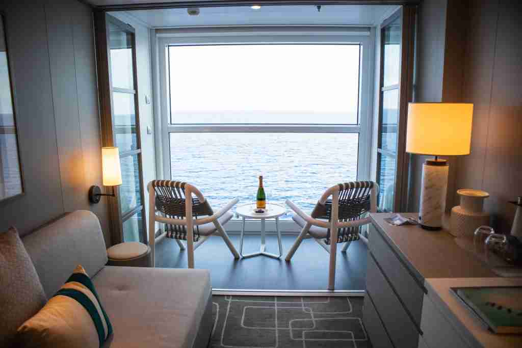 So-called Infinite Veranda cabins on Celebrity Edge are open the sea in a way that we haven