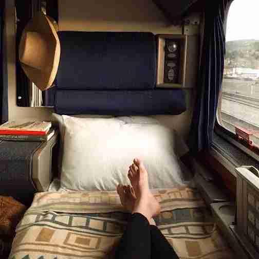 Amtrak roomette. Image courtesy of Amtrak.