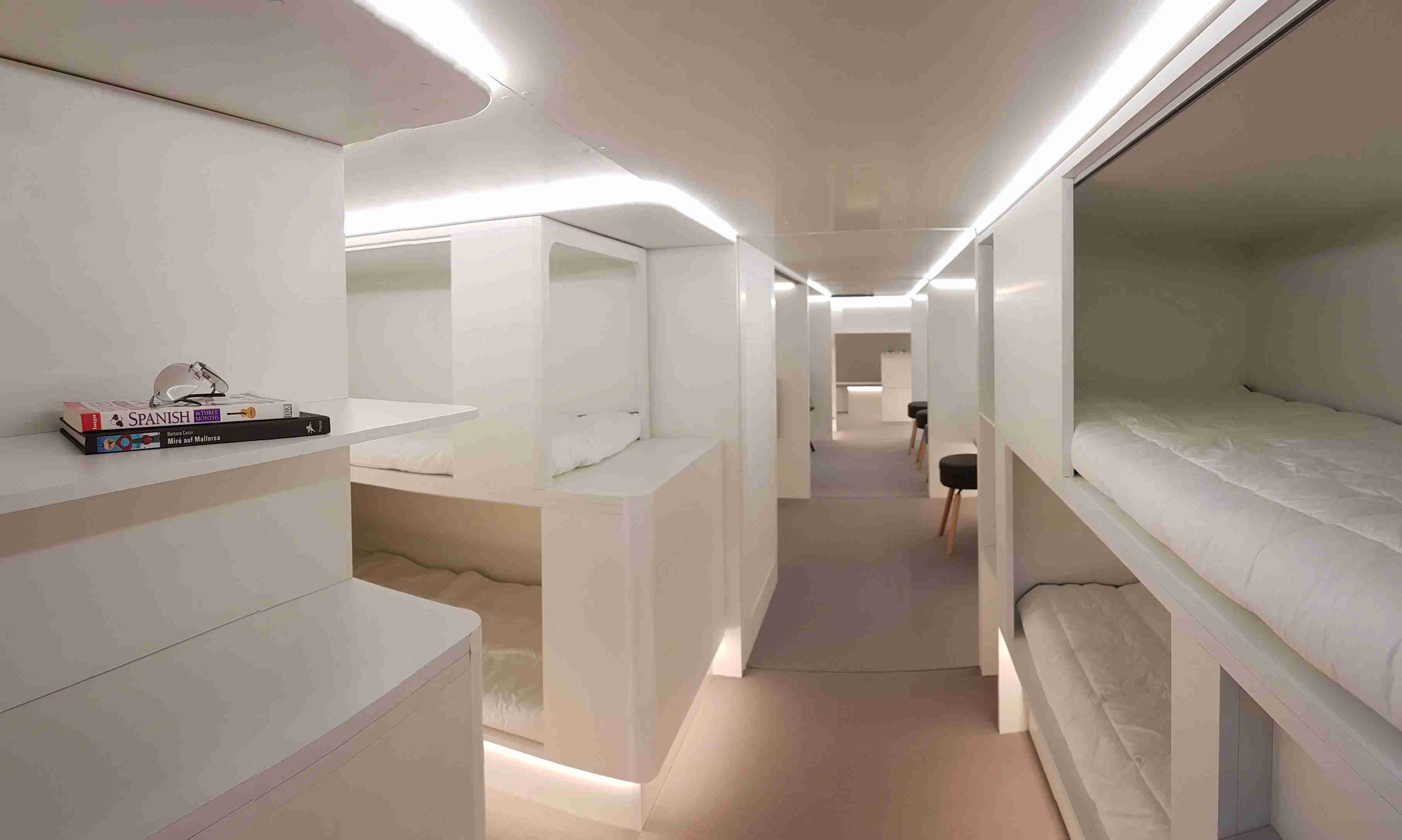 Sleeping berths (Images courtesy of Airbus and Zodiac Aerospace)