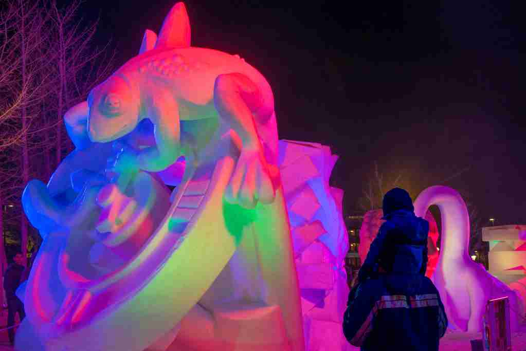 he International Snow Sculpture Championships, taking place this year in Breckenridge