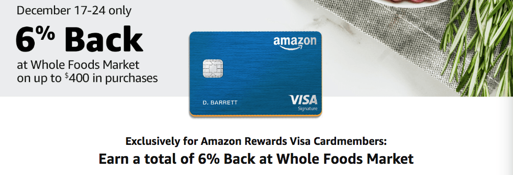 Amazon whole foods credit card