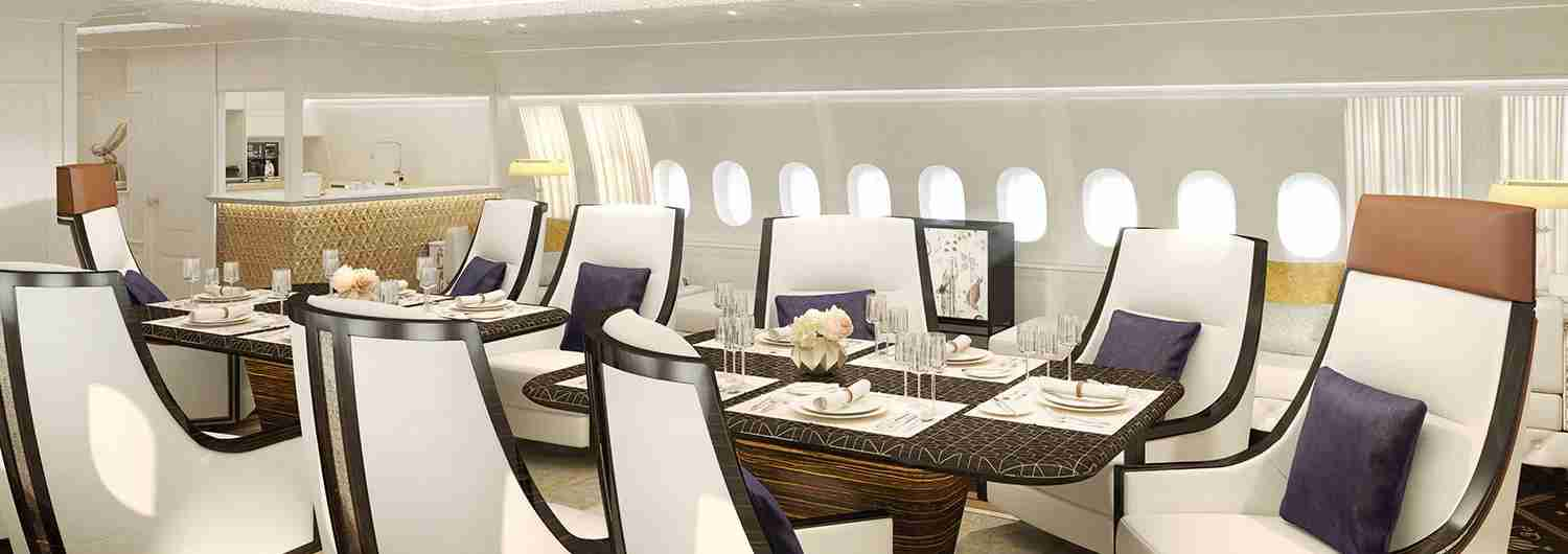 Somehow, even first class dining feels substandard now (Photo courtesy of Jet Aviation)