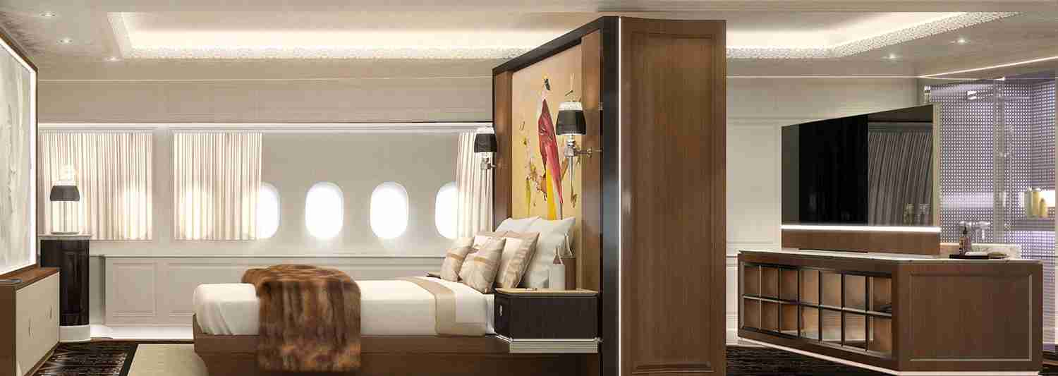 Owners of the BBJ 777X will likely scoff at our adoration of the lie-flat seat (Photo courtesy of Jet Aviation)