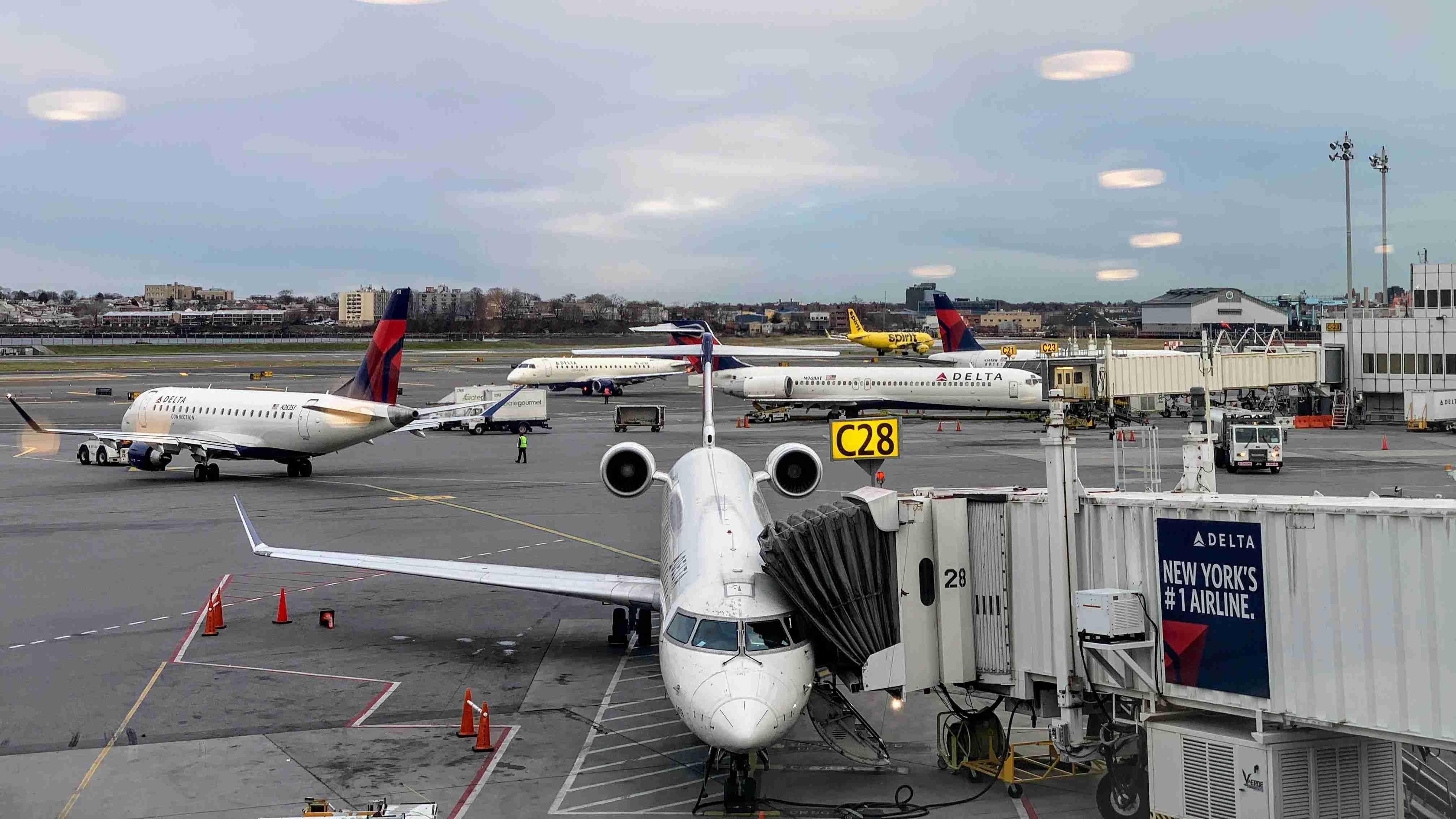 Delta aircraft at New York