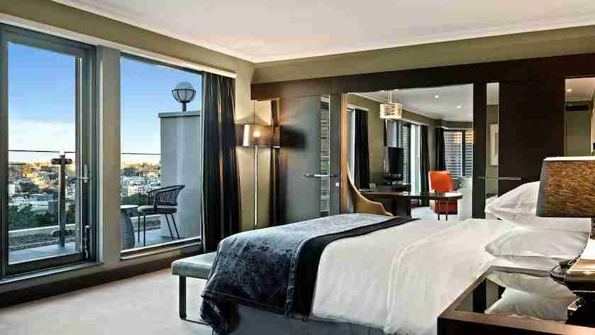 Deluxe terrace suite at the Sheraton Grand Sydney