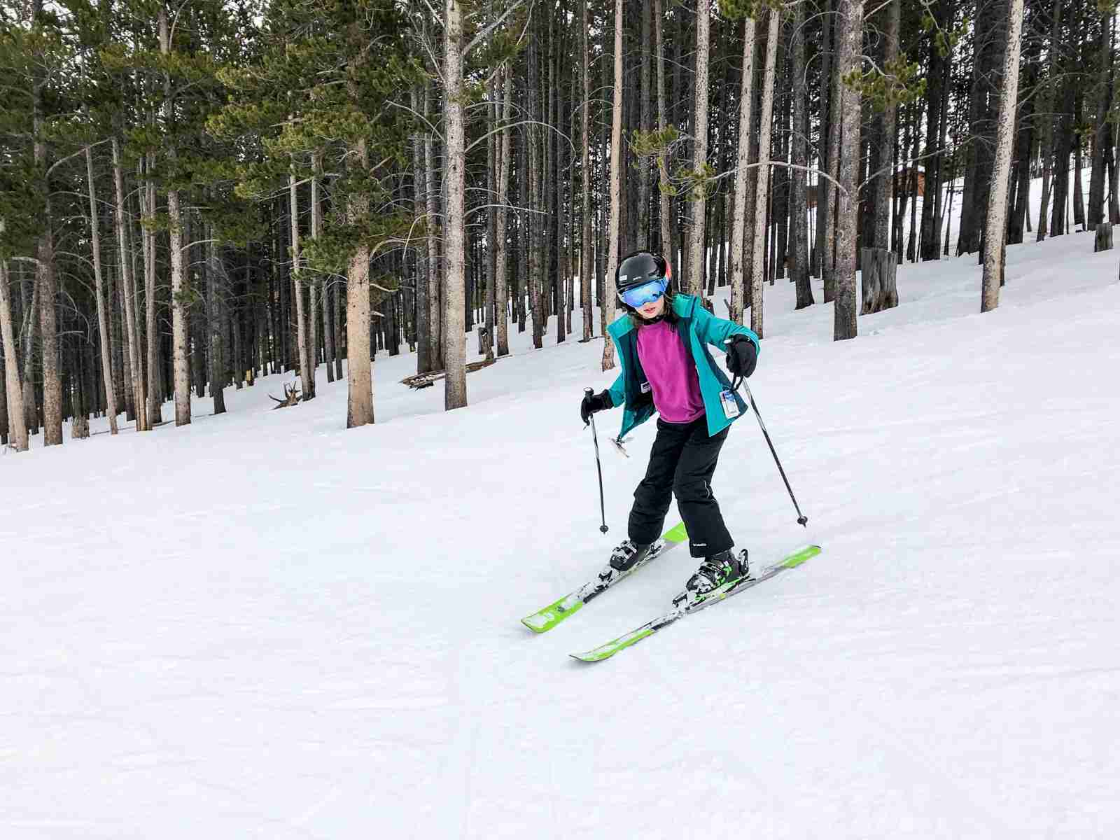 At 9, my oldest daughter now (thankfully) loves to ski.