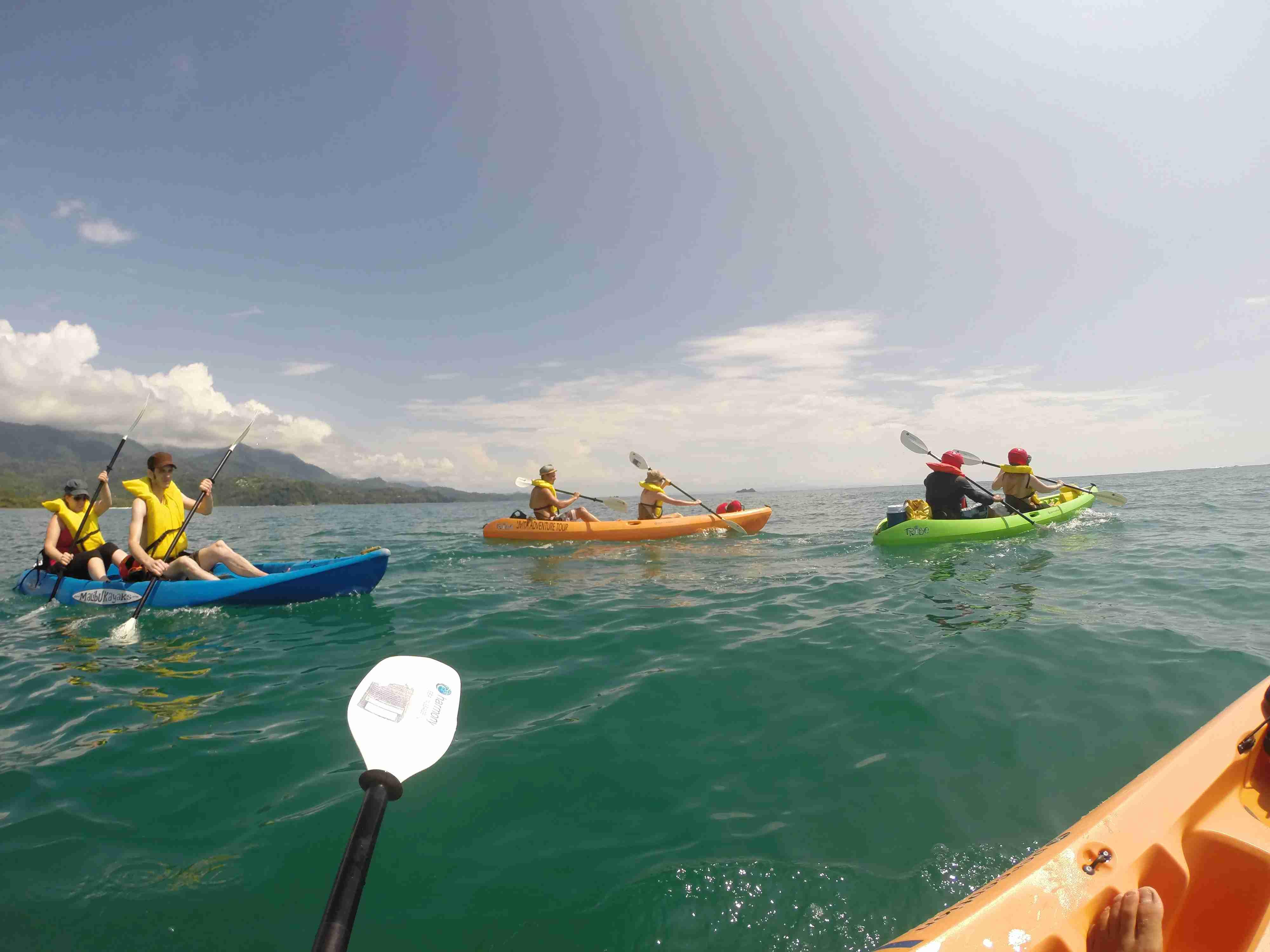 Sea kayaking at Uvita