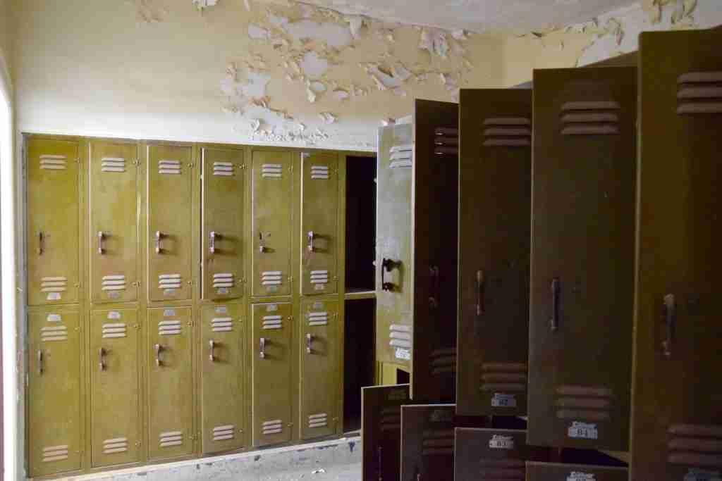 haunted high school locker room in Jerome, Arizona