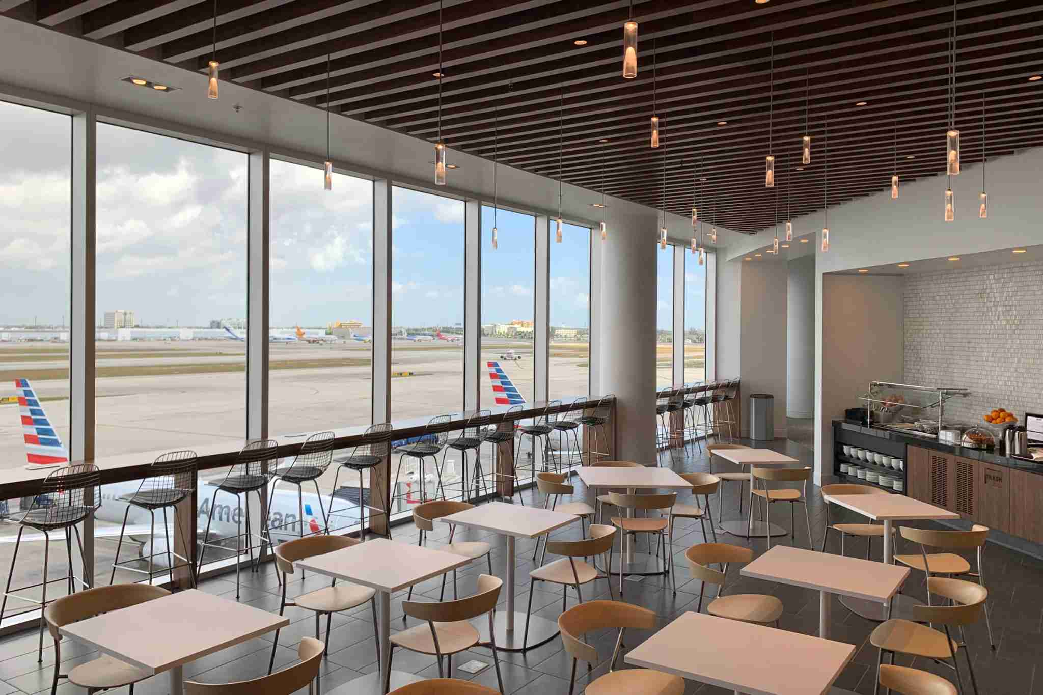 The Amex Centurion Lounge in Miami Airport. (Photo by Zach Honig/The Points Guy)