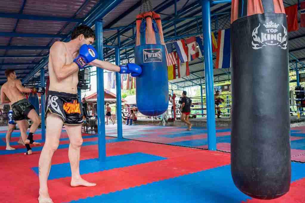 Thai boxing on the island of Koh Phangan. (Photo via Shutterstock)