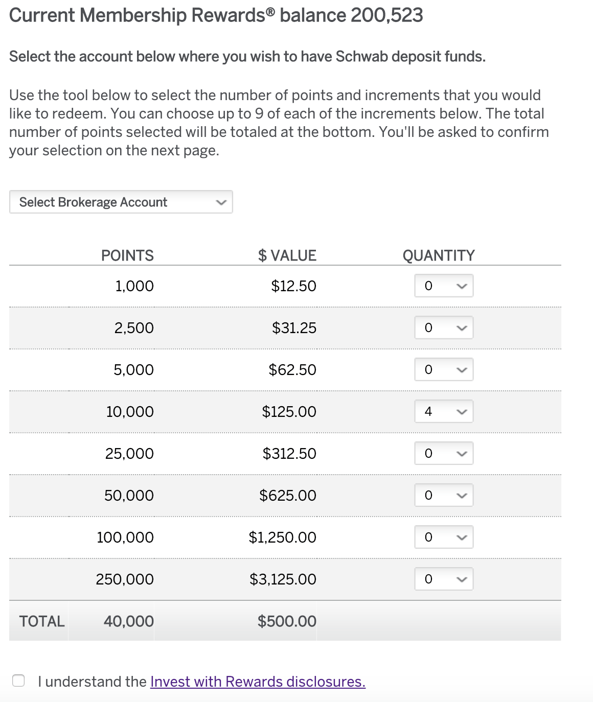 Cash Out Points With The Amex Platinum Card For Schwab
