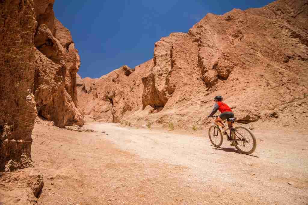 Cycling through the Atacama Desert. (Photo via Shutterstock)