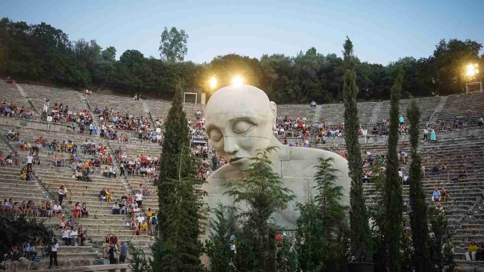 The Athens Festival in Epidaurus, Greece. (Photo by Giannis Alexopoulos/NurPhoto via Getty Images)