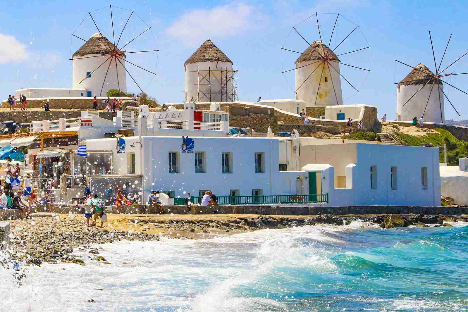 (Mykonos, Greece. Photo by Nicolas Economou/NurPhoto)