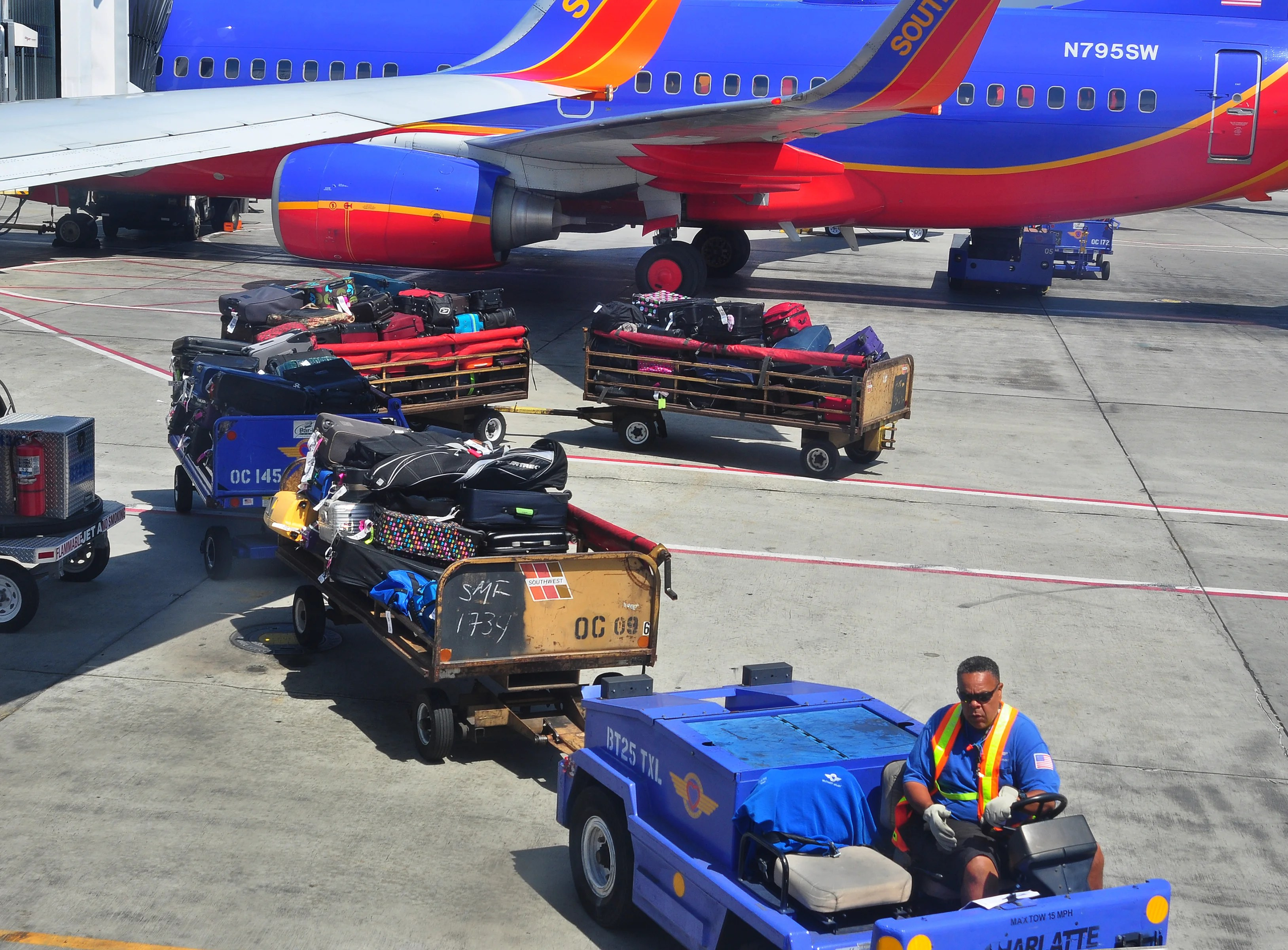 FAA Investigates Southwest for 'Significant Mistakes' Calculating Luggage Weight
