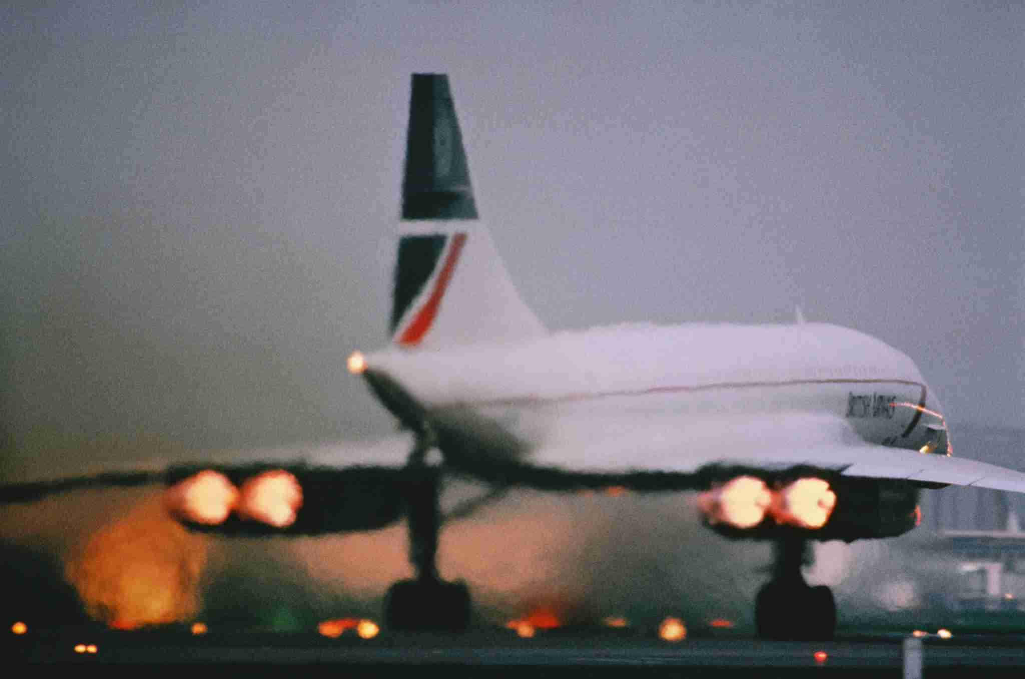 British Airways Aerospatiale BAC Concorde taking-off with afterburners blazing. (Photo by: aviation-images.com/UIG via Getty Images)