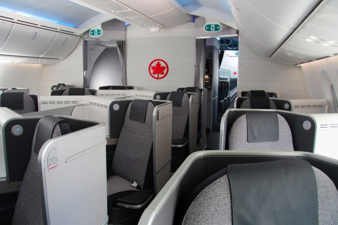 Air Canada's New Air Canada Signature Class cabin on the 787 Dreamliner (Photo courtesy of Air Canada)