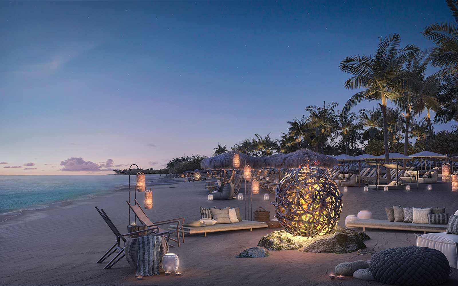The Beach Club at Binimi (Image courtesy of Virgin Voyages)