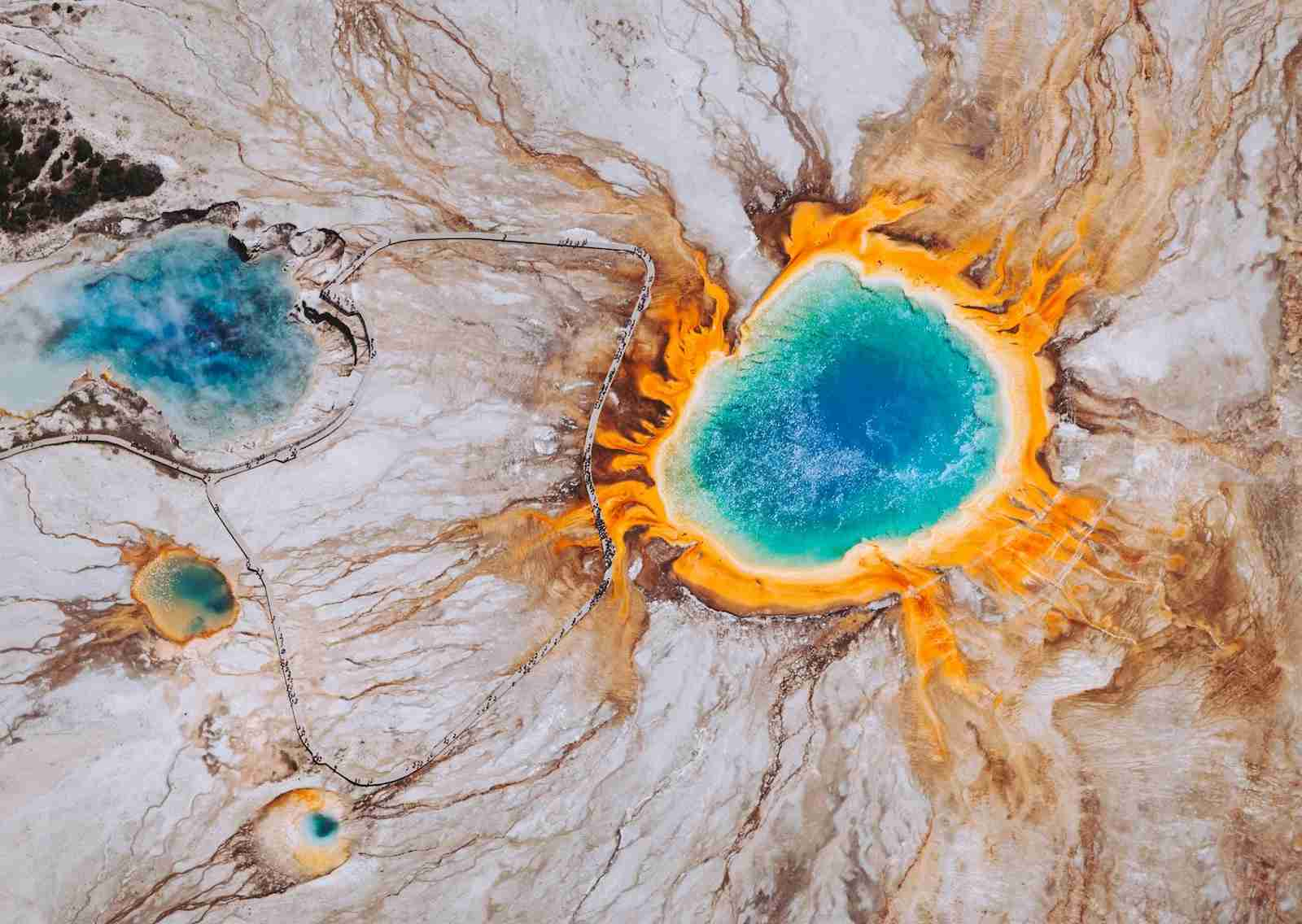 (Grand Prismatic Spring, Yellowstone National Park. Photo by Chris Leipelt/Unsplash)