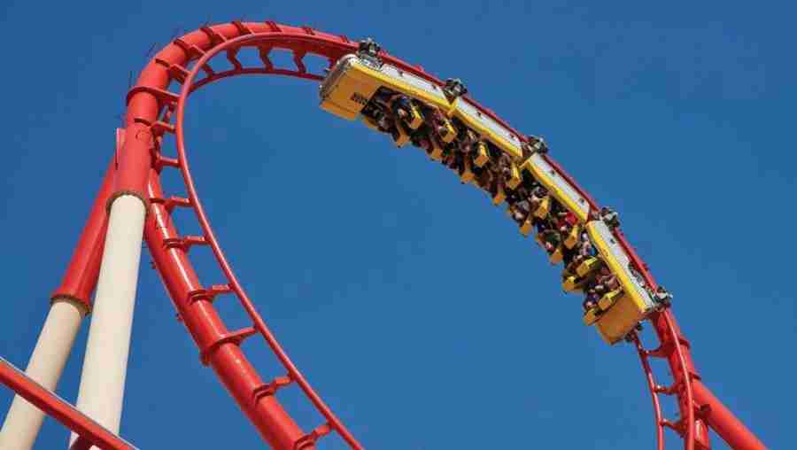 roller coaster New York Hotel Las Vegas