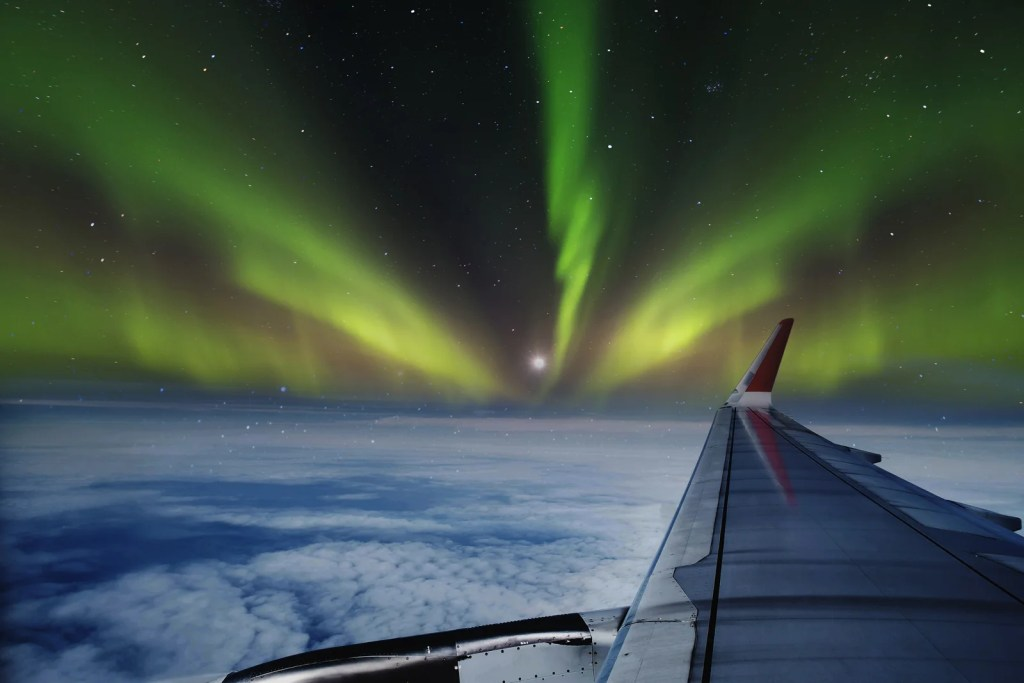 How To See The Northern Lights From A Plane