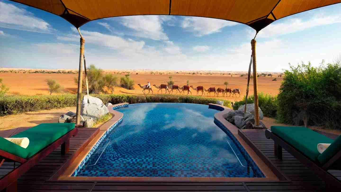Cash in your Marriott points for a stay at Al Maha, a Luxury Collection Desert Resort & Spa, Dubai. (Photo courtesy of the hotel).