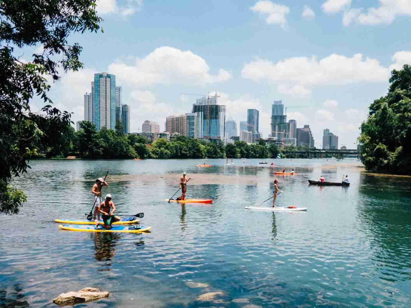 Paddle boarding at Lou Neff Point in Austin, TX. (Photo by Tomek Baginski/Unsplash)