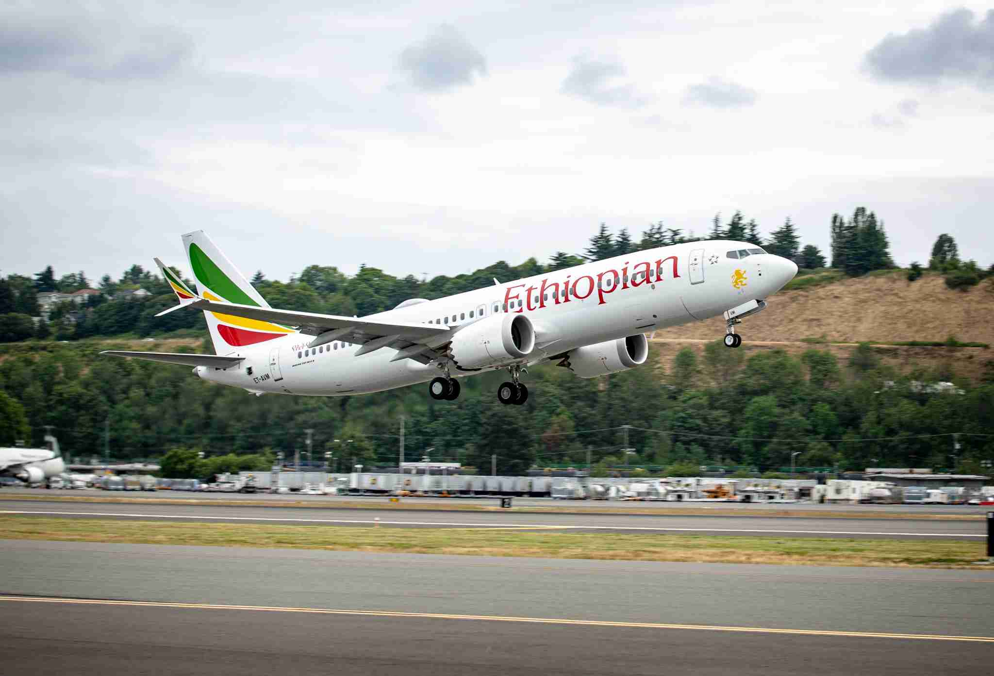 An Ethiopian Airlines Boeing 737 MAX 8 like the aircraft involved in the March 10th crash (Image courtesy of Boeing)