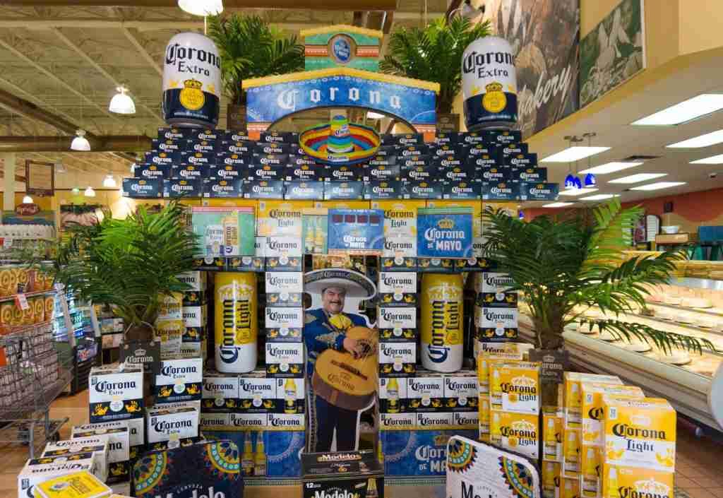 A corona beer display in Miami, FL. (Photo by Roberto Machado Noa/LightRocket via Getty Images)