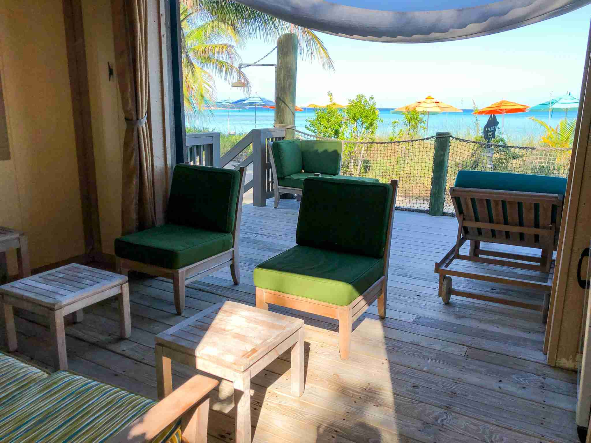 Peek inside a cabana on Castaway Cay