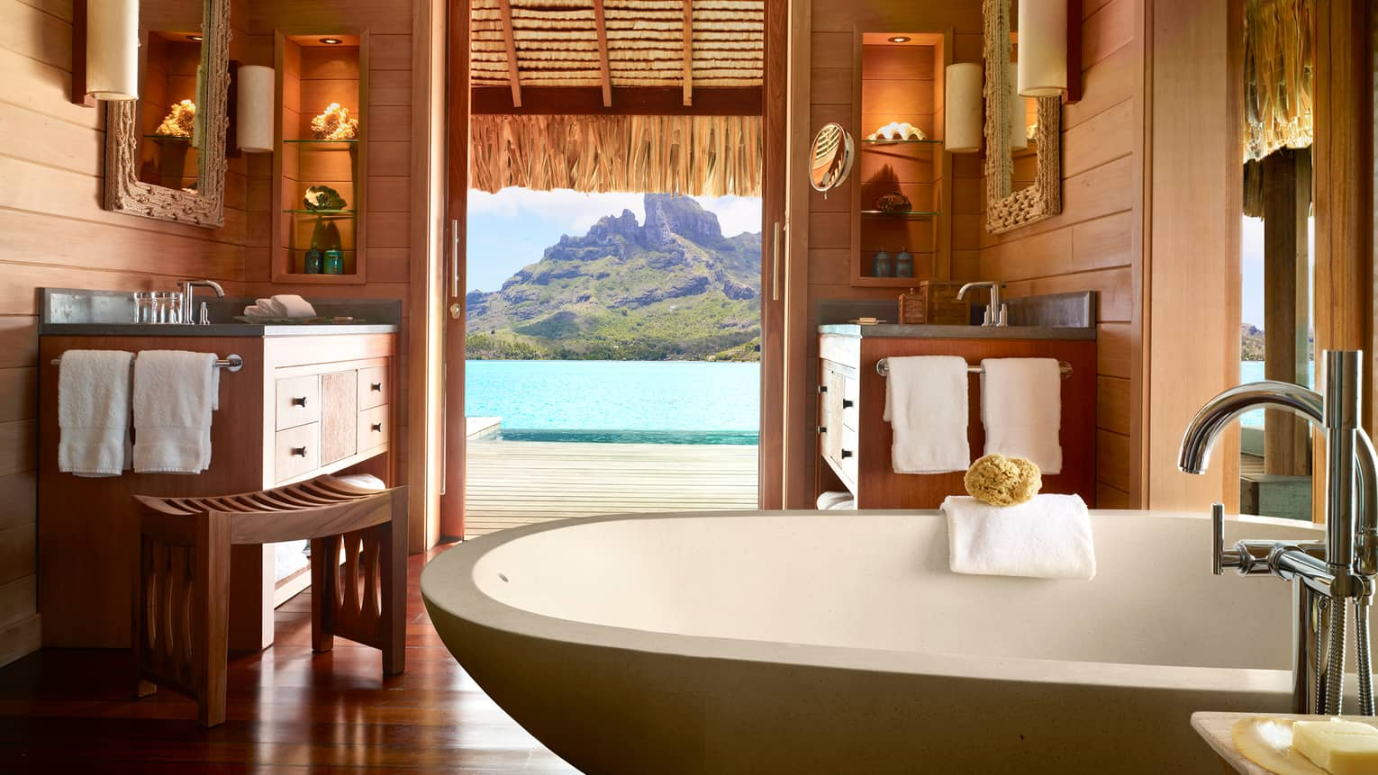 The Four Seasons Bora Bora Overwater Bungalow Suite. (Photo courtesy of Four Seasons Bora Bora)