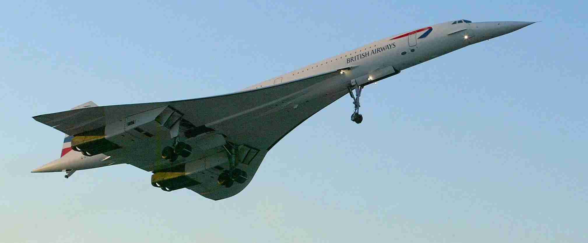 The final British Airways Concorde flight lifts off from John F. Kennedy Airport in New York on its final voyage to London, 24 October 2003. The flight was Concorde