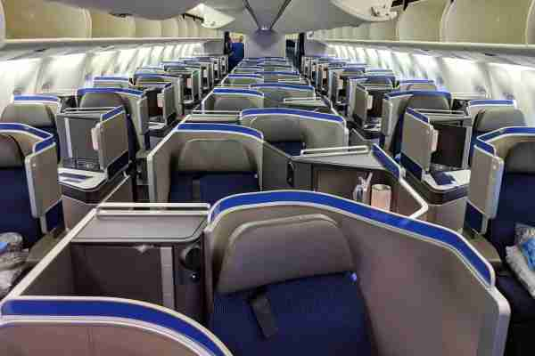 The Polaris cabin on a United high-J 767. Photo by Zach Honig / The Points Guy.