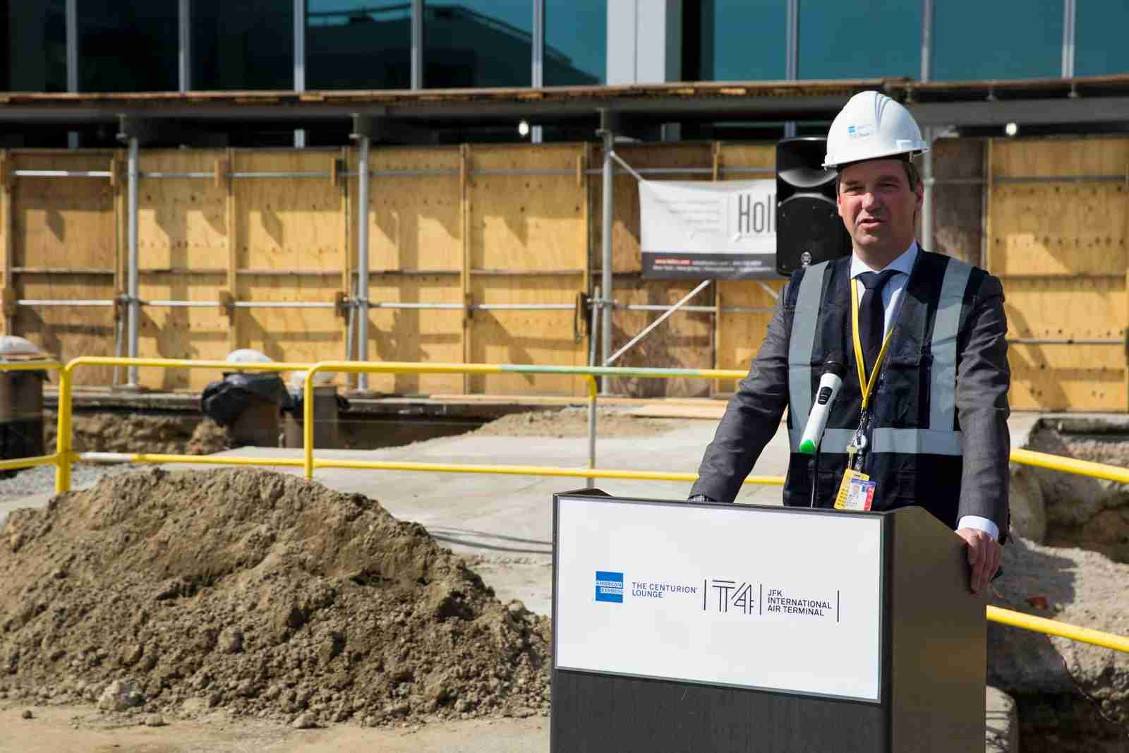 JFK Centurion Lounge groundbreaking in March 2019 (Photo by Brendan Dorsey/The Points Guy)