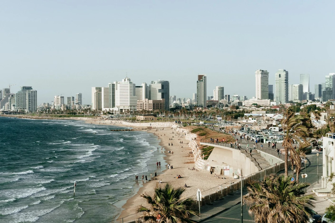 The city overlooks the beach in Tel Aviv-Yafo, Israel. (Photo by Adam Jang/Unsplash)