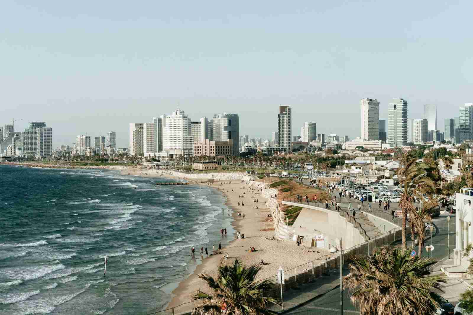 The city overlooks the beach in Tel Aviv-Yafo, Israel. (Photo by Adam Jang/Unsplash)