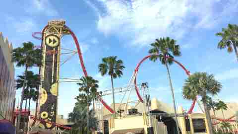 Universal Orlando - Hollywood Rip Ride Rockit Roller Coaster