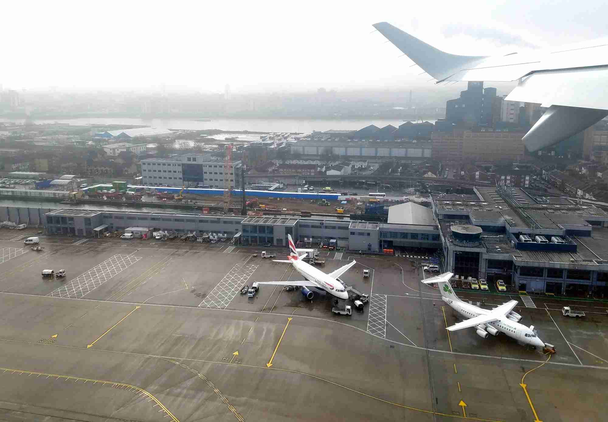 Taking off from London City Airport in January 2018. The airport