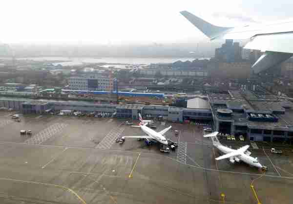 Taking off from London City Airport in January 2018. The airport's small size is evident. (Photo by Alberto Riva/TPG)