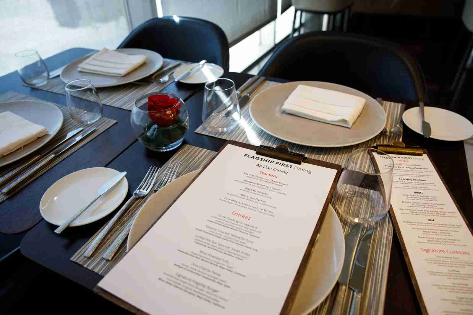 American Airlines Group Inc. Flagship First Class Dining inside the Flagship Lounge at Los Angeles International Airport (LAX) on Friday, March 29, 2019 in Los Angeles, Calif. © 2019 Patrick T. Fallon for The Points Guy