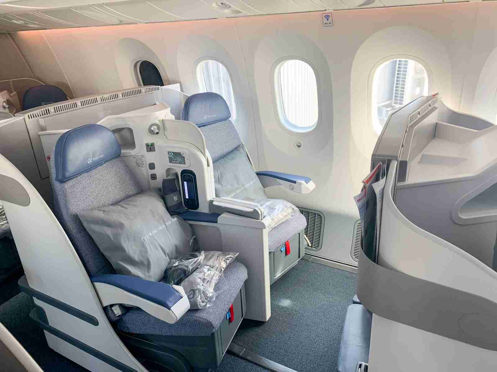Business class on Air Europa