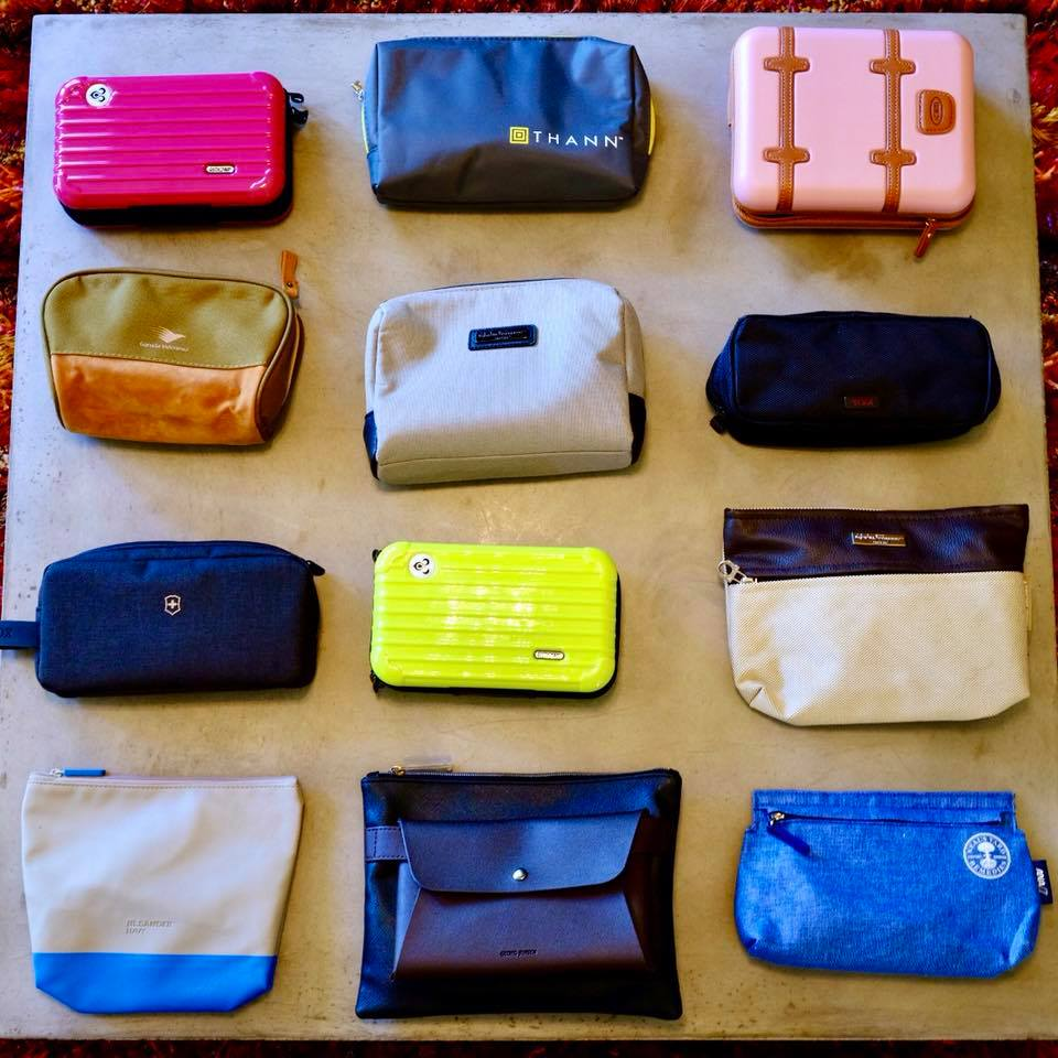 TPG Lounge member Aaron Bertrand showed off his amenity kit collection. Image courtesy of Aaron Bertrand.